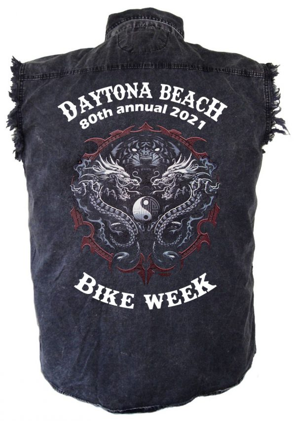 Daytona Beach Bike Week 2021 Yin And Yang Snakes Men'sShirt
