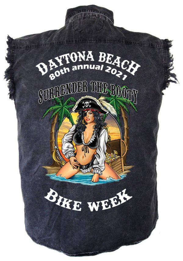 Men's Daytona Beach Bike Week 2021 Hot Pirate Babe Shirt