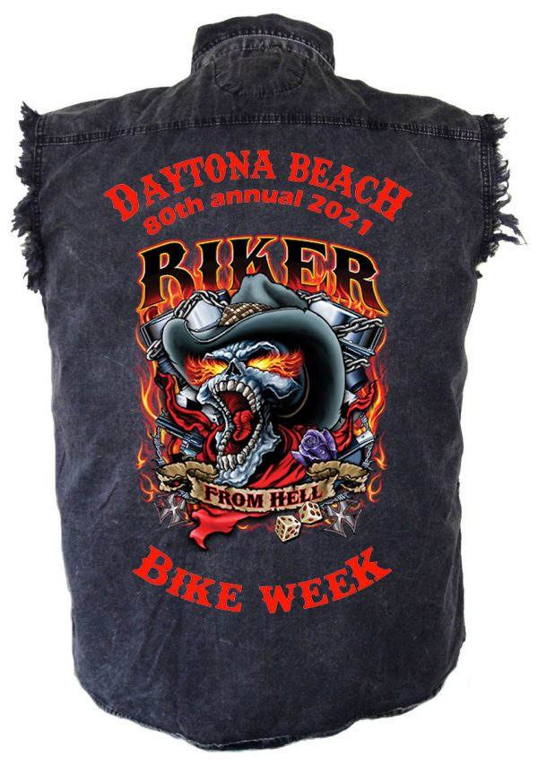 Mens Daytona Beach Bike Week 2021 Hell Rider Shirt