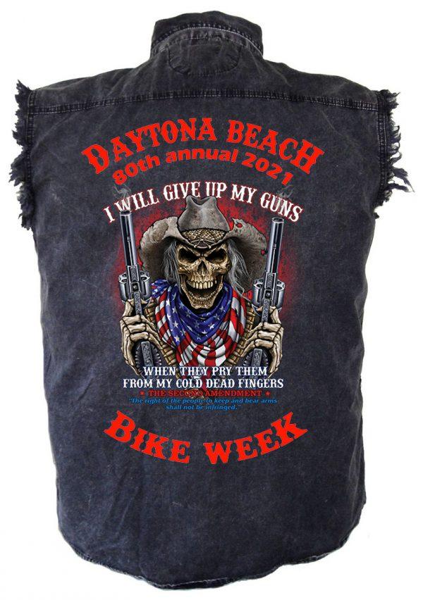 Men's Daytona Beach Bike Week Dead Man Shooting Biker Shirt