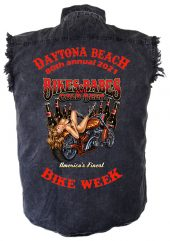 Daytona Beach Bike Week Bikes and Babes Denim Shirt