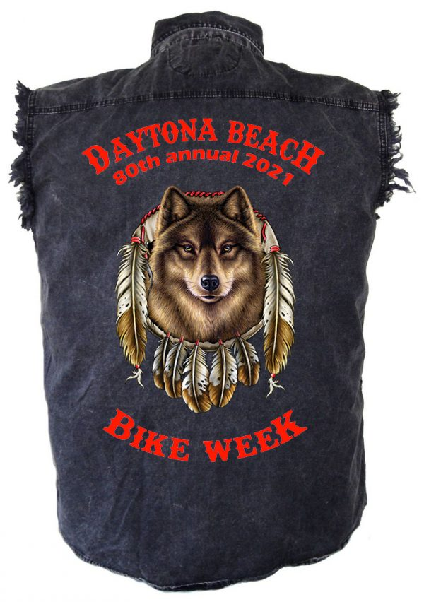 Men's Daytona Beach Bike Week 2021 Wolf Biker Shirt