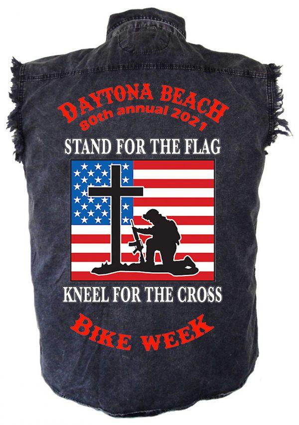 Daytona Beach Bike Week 2021 Unsung Hero Men's Denim Biker Shirt