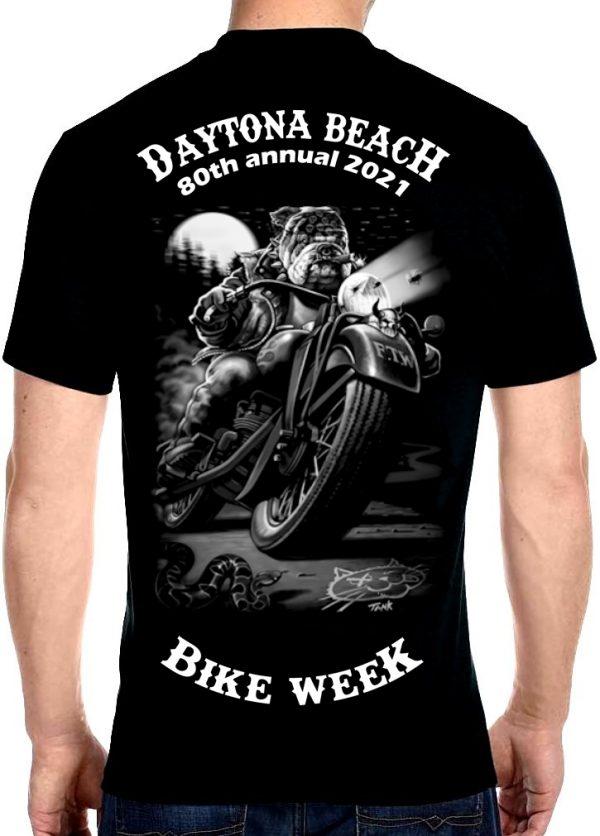 Daytona Beach Bike Week 2021 Harley Dog Men's Biker Tee Shirt