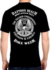Daytona Beach Bike Week 2021 Eagle of Freedom Biker Tee Shirt
