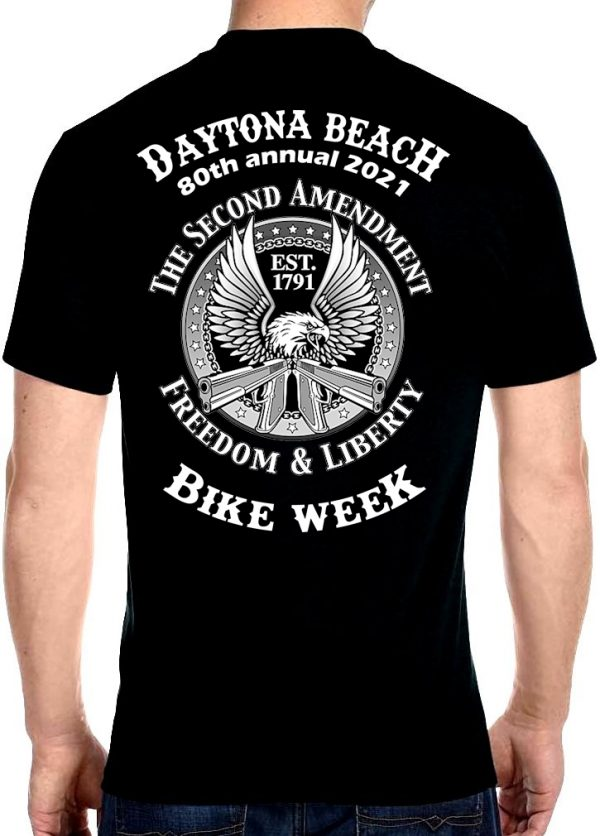 Daytona Beach Bike Week 2021 Eagle of Freedom Biker Tee Shirt