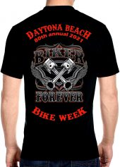 Men's Daytona Beach 2021 Bike Week Forever Riders Biker Tee Shirt