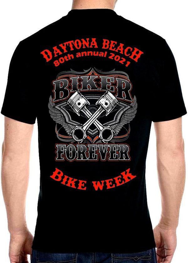 Men's Daytona Beach 2021 Bike Week Forever Riders Biker Tee Shirt