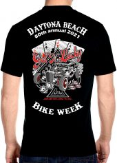 Daytona Beach 2021 Bike Week Four-of-a-Kind Biker Tee Shirt