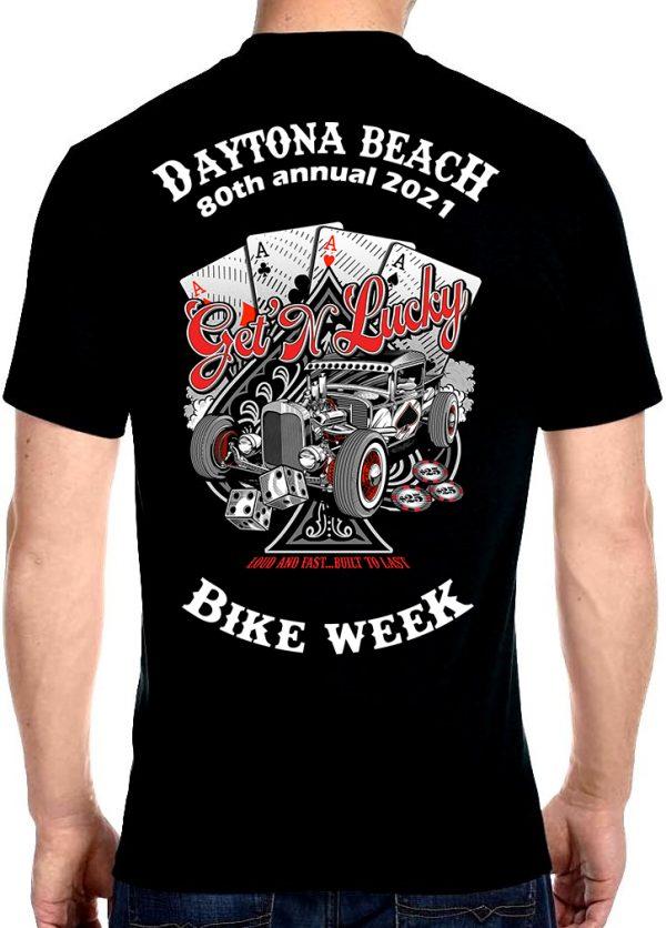 Daytona Beach 2021 Bike Week Four-of-a-Kind Biker Tee Shirt
