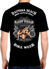 Daytona Beach Bike Week 2021 American Pin-Up Girl Men's Biker Tee Shirt