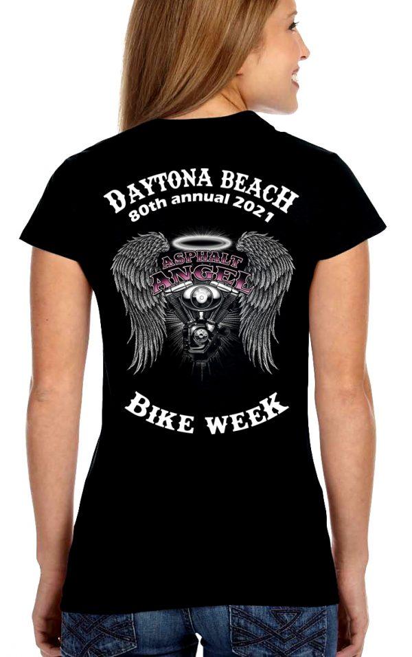 Daytona Bike Week 2021 Asphalt Angel Women's Biker Tee Shirt