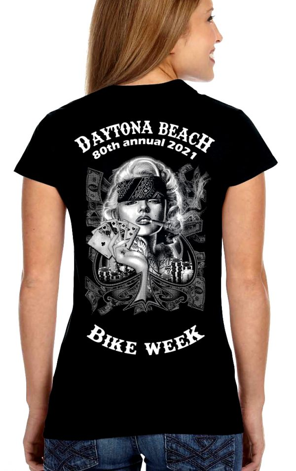 2021 Daytona Bike Week Badass Marilyn Monroe Women's T-Shirt