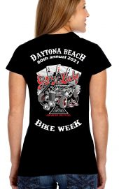 Daytona Bike Week 2021 Hand of Aces Ladies Tee Shirt