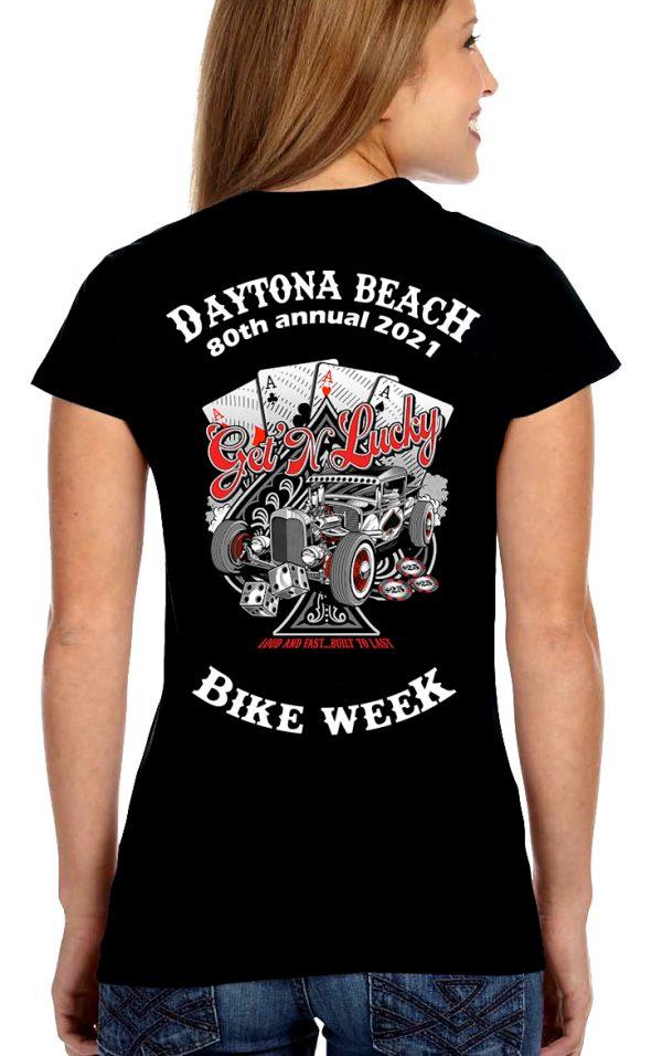 Daytona Bike Week 2021 Hand of Aces Ladies Tee Shirt