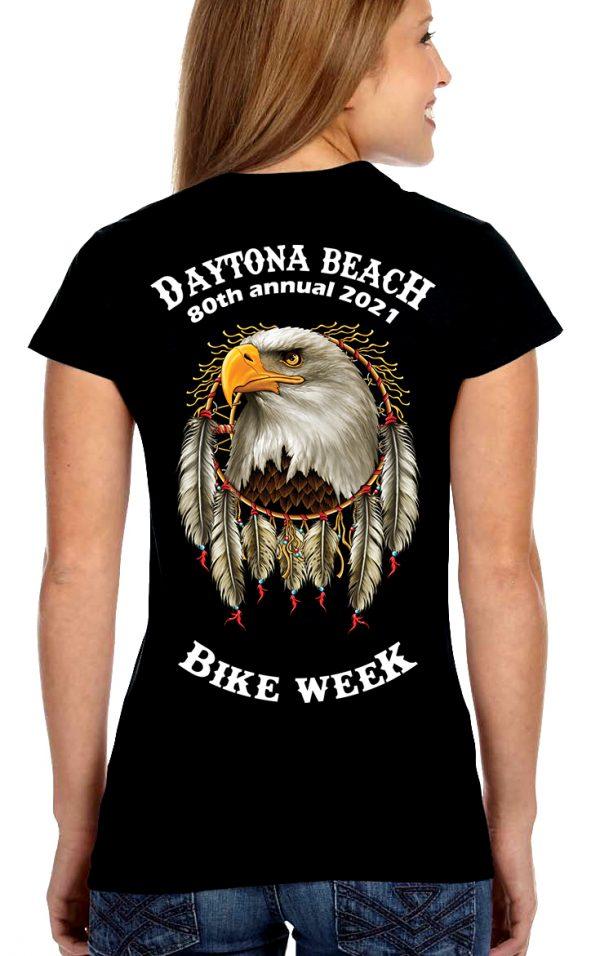 Daytona Bike Week 2021 American Eagle Ladies Tee Shirt