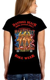 Daytona Bike Week 2021 Route 66 Ladies Biker T-Shirt