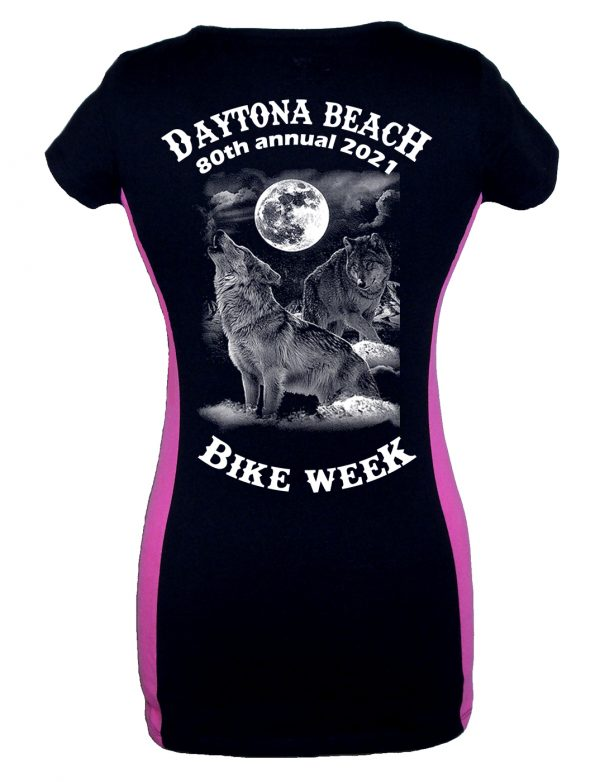 Women's two tone Daytona beach bike week tee shirt
