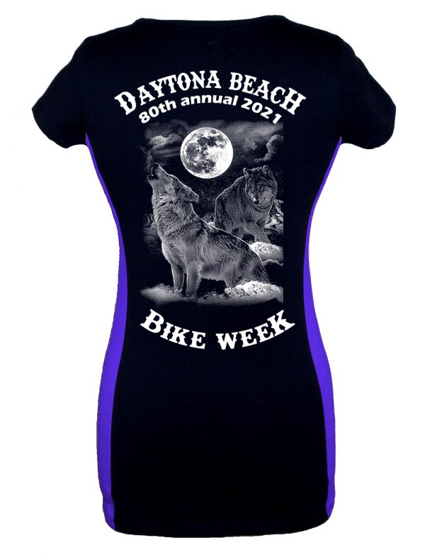 Ladies bike week wolf tee shirt