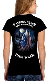 Daytona Bike Week 2021 Howling Wolf Women's Tee Shirt