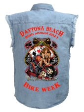 Daytona bike week 2021 blue denim shirt