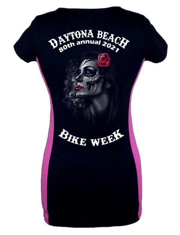 Daytona bike week 2021 gothic rose girl two-tone shirt