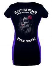 Daytona Bike Week 2021 Gothic Rose Girl Two Tone T-Shirt