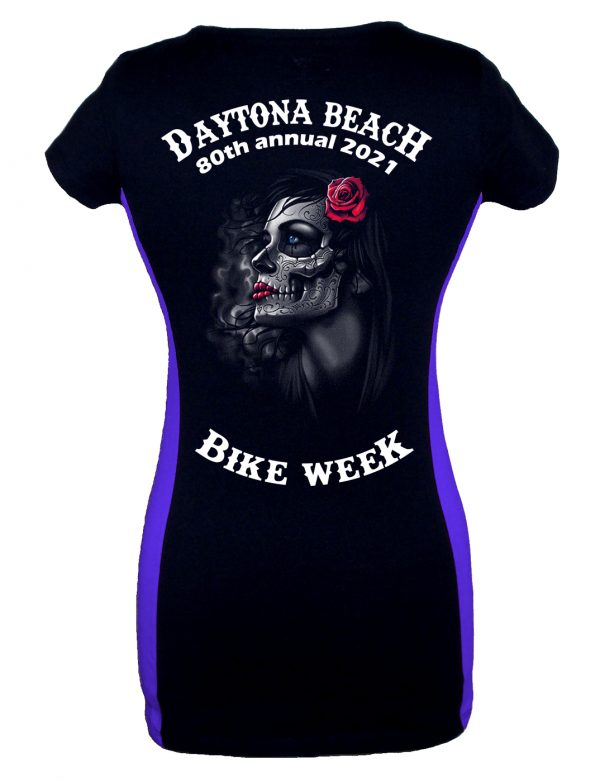 Daytona Bike Week 2021 Gothic Rose Girl Two Tone T-Shirt