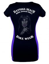Daytona Bike Week 2021 Dead Girl Whispering Ladies Tee Shirt