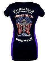 Daytona Bike Week 2021 Cross Ladies Tee Shirt