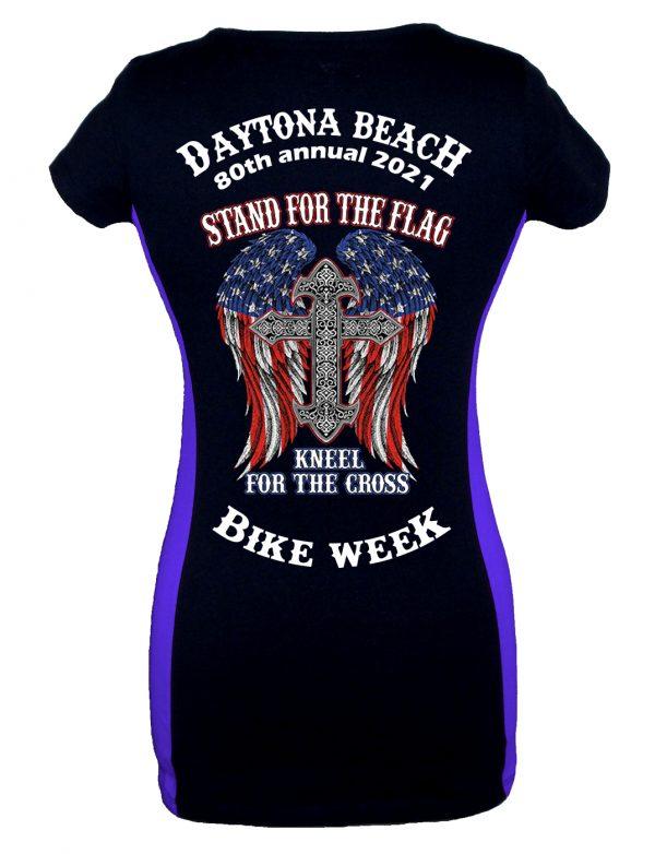 Daytona Bike Week 2021 Cross Ladies Tee Shirt