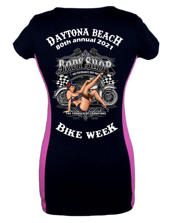 Daytona Bike Week 2021 Pin-Up Girl Two Tone Tee Shirt