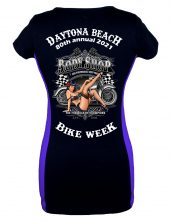 Daytona Bike Week 2021 Cheeky Pin-Up Girl Biker Tee Shirt