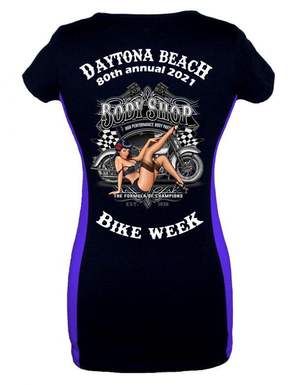 Daytona Bike Week 2021 Cheeky Pin-Up Girl Biker Tee Shirt