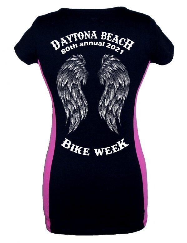 Ladies Daytona Bike Week 2021 Fallen Angel Tee Shirt