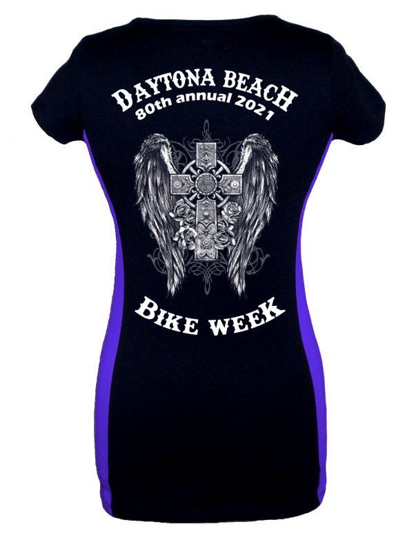 2021 Daytona Bike Week Gothic Cross Ladies Tee Shirt