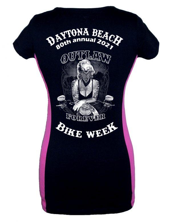 Daytona Bike Week 2021 Marilyn Monroe Ladies Biker T-Shirt