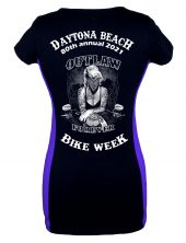Ladies Daytona Bike Week 2021 Marilyn Monroe Two Tone Tee Shirt