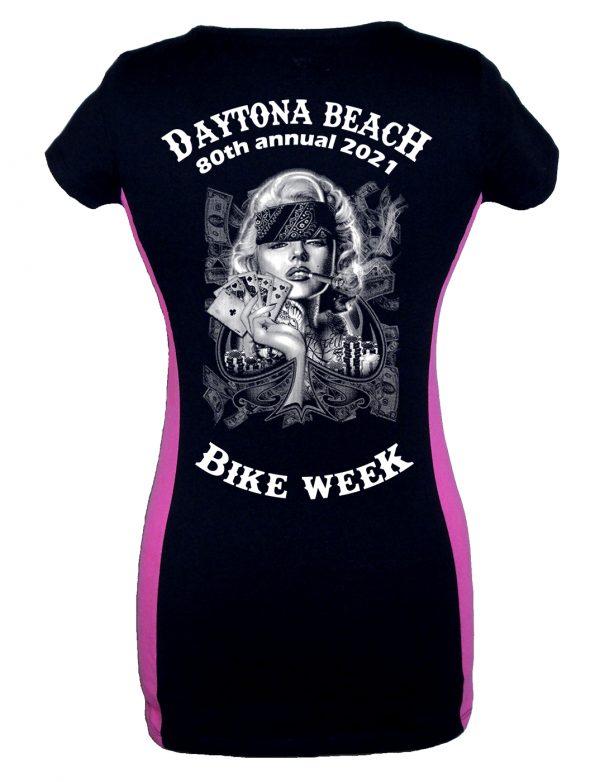 Daytona Bike Week 2021 Marilyn Monroe Ladies Biker Tee Shirt