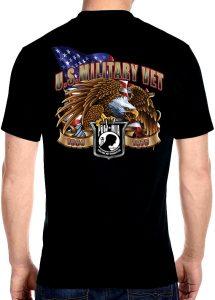 Mens veteran eagle shirt