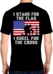 mens kneel for the cross shirt