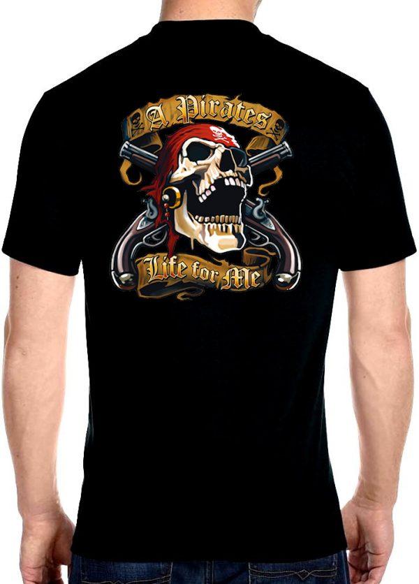 mens skull cross guns biker t-shirts