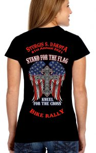 ladies 2021 sturgis stand for the flag tee