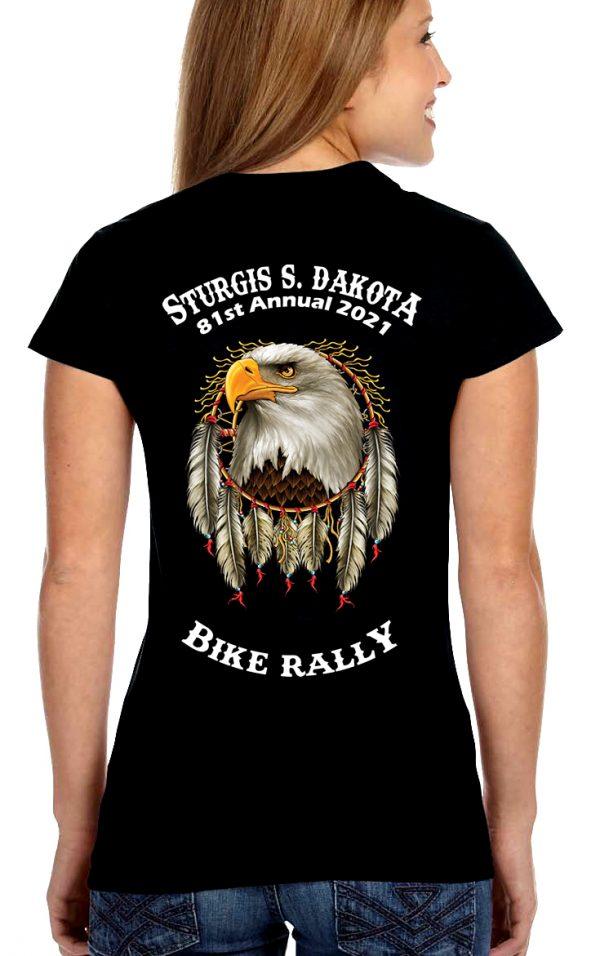 ladies 2021 Sturgis dreamcatcher eagle tee