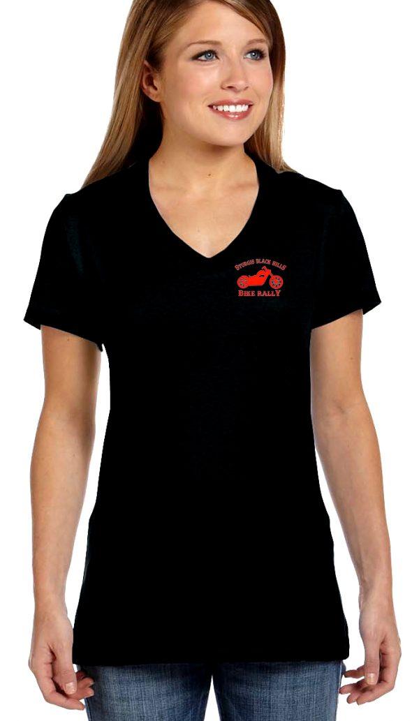 Woman's Sturgis bike rally shirt