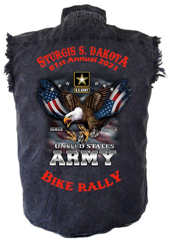 mens sturgis 2021 eagle charcoal shirt
