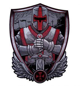 Large Christian crusader biker patch