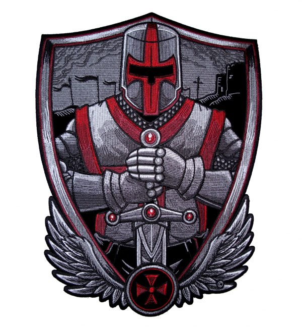 Large Christian crusader knight patch