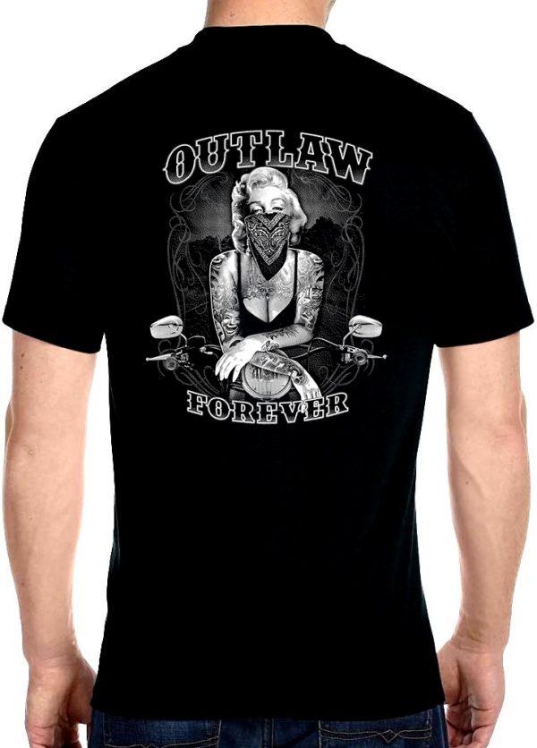 men's Marilyn Monroe outlaw biker t-shirt