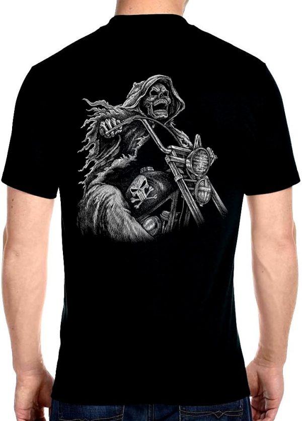 men's grim reaper rider biker t-shirt